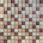 Desertz Gobi-1420 Mosaic Glass Mesh Mounted Tile - 3 in. x 3 in. Tile Sample