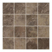Continental Slate Moroccan Brown 12 in. x 24 in. x 6mm Porcelain Mosaic Floor or Wall Tile(22 sq. ft./case)-DISCONTINUED