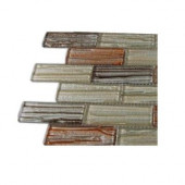 Gemini Mercury Blend 1 in. x 3 in. Glass Tile Sample