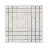 Carrara White 12 in. x 12 in. x 8 mm Marble Mosaic Floor/Wall Tile