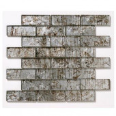 Folia Silver Maple 12 in. x 12 in. x 6.35mm Glass Mesh-Mounted Mosaic Wall Tile (10 sq. ft./case)