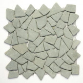 Indonesian Green Gobos 12 in. x 12 in. x 6.35 mm Natural Stone Pebble Mesh-Mounted Mosaic Tile (10 sq. ft. / case)