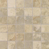 Pietre Vecchie Champagne 12 in. x 12 in. x 8mm Porcelain Sheet Mounted Mosaic Floor and Wall Tile (14.33 sq. ft. / case)