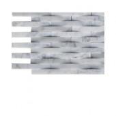 3D Reflex White Carrera Stone Tile Sample