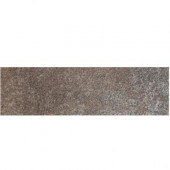 Metal Effects Shimmering Copper 3 in. x 13 in. Porcelain Surface Bullnose Floor and Wall Tile-DISCONTINUED