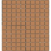 Coffeez Cappuccino-1102 Mosiac Recycled Glass Mesh Mounted Floor and Wall Tile - 3 in. x 3 in. Tile Sample