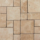 13 in. x 13 in. Coliseum Athens Glazed Porcelain Mini Versailles -Each of 1.17 sq. ft.-DISCONTINUED