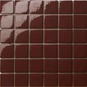 12.5 in. x 12.5 in. Capri Marrone Glossy Glass Tile-DISCONTINUED