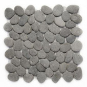 River Rock River Gray 12 in. x 12 in. x 12.7 mm Natural Stone Pebble Mosaic Floor and Wall Tile (10 sq. ft./case)