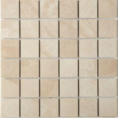 Terra Topaz Ice 12 in. x 12 in. x 8 mm Porcelain Mesh-Mounted Mosaic Tile