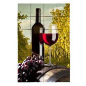 Wine2 24 in. x 36 in. Tumbled Marble Tiles (6 sq. ft. /case)