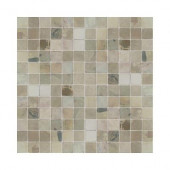 Travertine Copper 12 in. x 12 in. x 9-1/2 mm Tumbled Slate Sheet-Mounted Mosaic Tile (5 sq. ft. / case)