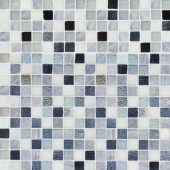Winter Opal Cut Edge 12 in. x 12 in. x 6 mm Glass Marble Mosaic Wall Tile