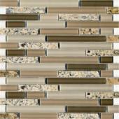 Spectrum Desert Gold-1663 Granite And Glass Blend 12 in. x 12 in. Mesh Mounted Floor & Wall Tile (5 sq. ft.)