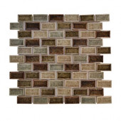 Mineral Spring Crackle 12 in. x 12 in. x 8 mm Glass Mosaic Wall Tile
