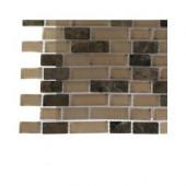 Namib Desert Blend Brick Pattern Glass Tile Sample