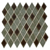 Roman Selection Basilica Diamond 11 in. x 11 in. x 8 mm Glass Floor and Wall Tile (0.82 sq. ft.)