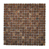 Italian Fossil Foil 12 in. x 12 in. x 8 mm Glass Marble Mosaic Wall Tile