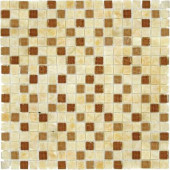 Honey Onyx Ripple 12 in. x 12 in. x 8 mm Glass Stone Mesh-Mounted Mosaic Tile (10 sq. ft. / case)