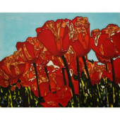 The Tulip 11 in. x 14 in. Wall Tile-DISCONTINUED