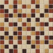 Isis Amber Blend 12 in. x 12 in. x 3 mm Glass Mesh-Mounted Mosaic Wall Tile