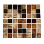 Lima Bean 3/4 in. x 3/4 in. Glass Tile Sample