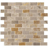Jade Taupe 13 in. x 13 in. x 8-1/2 mm Glazed Porcelain Floor and Wall Mosaic Tile