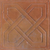 Saltillo Sealed Antique Adobe 8 in. x 8 in. Pinwheel Decorative Floor and Wall Tile-DISCONTINUED