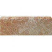Stratford Beige 3 in. x 12 in. Glazed Ceramic Single Bullnose Floor & Wall Tile-DISCONTINUED