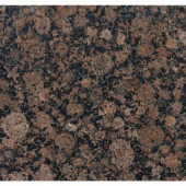 Baltic Brown 18 in. x 18 in. Polished Granite Floor and Wall Tile (13.5 sq. ft. / case)