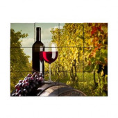 Wine2 24 in. x 18 in. Tumbled Marble Tiles (3 sq. ft. /case)