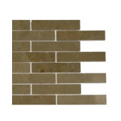 Jer Gold Piano Brick Polished Natural Stone Floor and Wall Tile - 6 in. x 6 in. Tile Sample