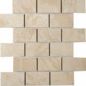 Terra 12 in. x 12 in. Topaz Ice Porcelain Mesh-Mounted Mosaic Tile-DISCONTINUED