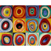 Kandinsky, 11 in. x 14 in. Farbstudie Quadrate (Color Study of Squares) Wall Tile-DISCONTINUED