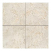 Brancacci Aria Ivory 18 in. x 18 in. Glazed Ceramic Floor and Wall Tile (18 sq. ft. / case)