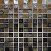 Edgewater Outer Banks 1 in. x 1 in. 11-3/4 in. x 11-3/4 in. Glass Floor & Wall Mosaic Tile-DISCONTINUED