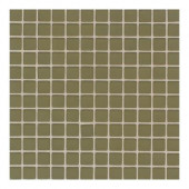 Maracas Tea Leaves 12 in. x 12 in. 8mm Frosted Glass Mesh-Mounted Mosaic Wall Tile (10 sq. ft. / case)-DISCONTINUED