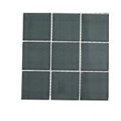 Contempo Blue Gray Polished Glass Tile Sample