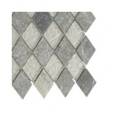 Tectonic Diamond Green Quartz Slate and White Gold Glass Floor and Wall Tile - 6 in. x 6 in. Tile Sample
