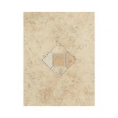 Brixton Sand 9 in. x 12 in. Ceramic Decorative Accent Wall Tile - DISCONTINUED