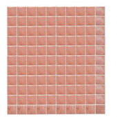 Sonterra Glass Rosa Iridescent 12 in. x 12 in. x 6 mm Glass Sheet Mounted Mosaic Wall Tile-DISCONTINUED