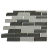 Contempo Brooklyn Blend 1/2 in. x 2 in. Glass Tile Sample