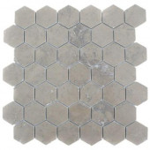 Medieval Hexagon Polished 12 in. x 12 in. x 8 mm Marble Floor and Wall Tile