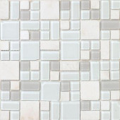 No Ka 'Oi Kapalua-Ka420 Stone And Glass Blend 12 in. x 12 in. Mesh Mounted Floor & Wall Tile (5 sq. ft.)