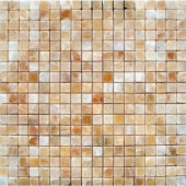 Honey 12 in. x 12 in. x 10 mm Polished Onyx Mesh-Mounted Mosaic Tile (10 sq. ft. / case)
