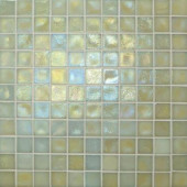 Edgewater Dune 1 in. x 1 in. 11 3/4 in. x 11 3/4 in. Glass Floor & Wall Mosaic Tile-DISCONTINUED