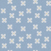 Bloom Cool Motif Glass Mosaic Tile - 24 in. x 24 in. Glass Wall and Light Residential Floor Mosaic Tile