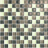 Color Blends Selva-1601 Gloss Mosaic Glass Mesh Mounted Tile - 4 in. x 4 in. Tile Sample-DISCONTINUED