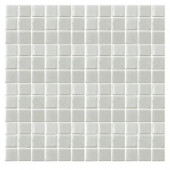 Irridecentz I-Off White-1413 Mosiac Recycled Glass Mesh Mounted Tile - 3 in. x 3 in. Tile Sample