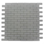 Contempo Bright White 12 in. x 12 in. x 8 mm Glass Mosaic Floor and Wall Tile